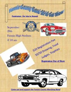 Fannin County Band Car Show @ Fannin County High School Stadium | Blue Ridge | Georgia | United States