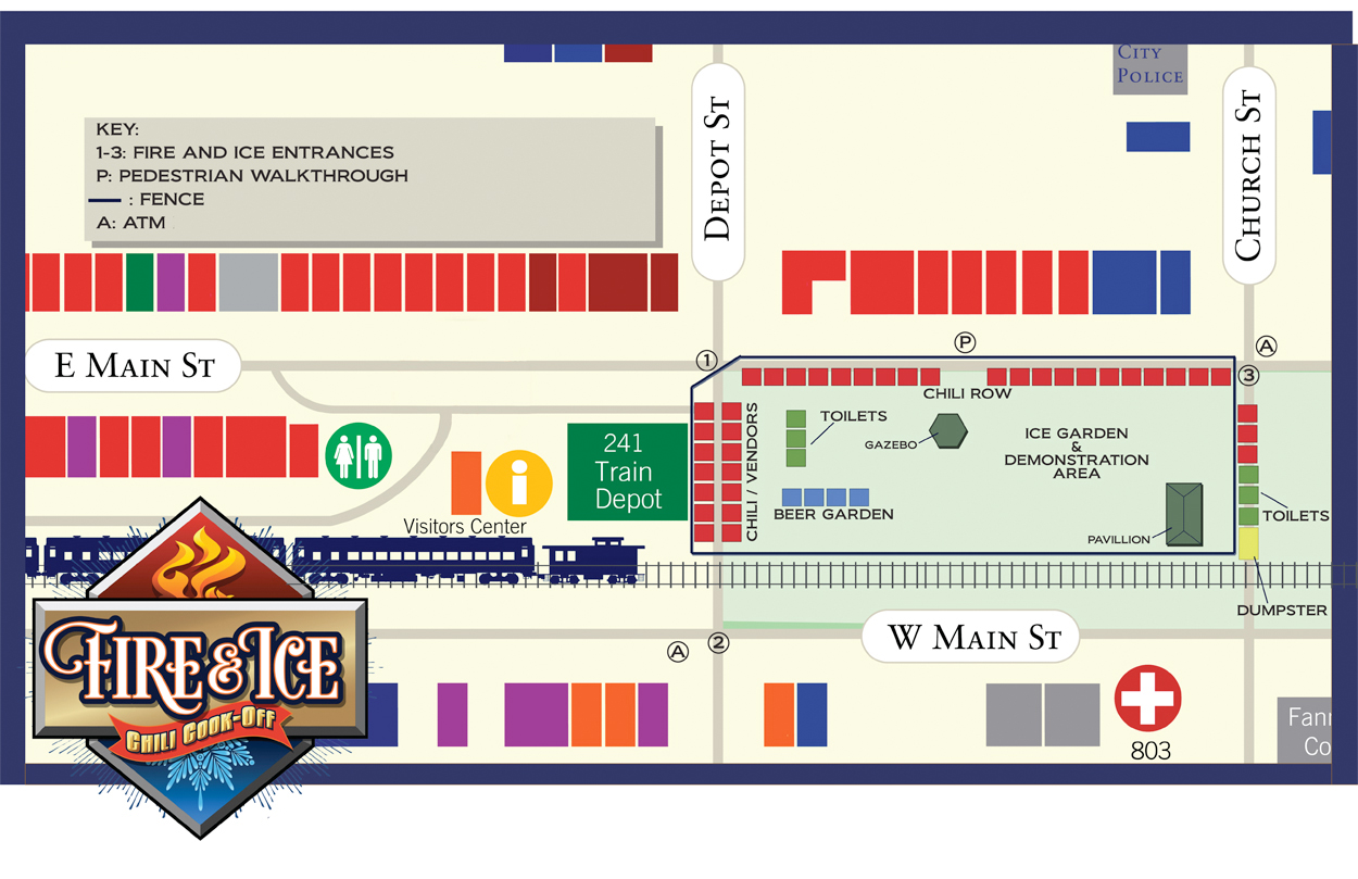 fire ice chili cookoff map