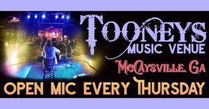 Tooneys Open Mic Thursday @ Tooneys | McCaysville | Georgia | United States